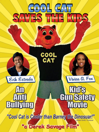 """Cool Cat Saves the Kids"" Movie Cover"